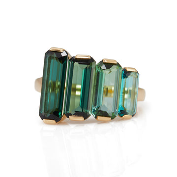 Green Tourmaline Crescendo Supreme Ring