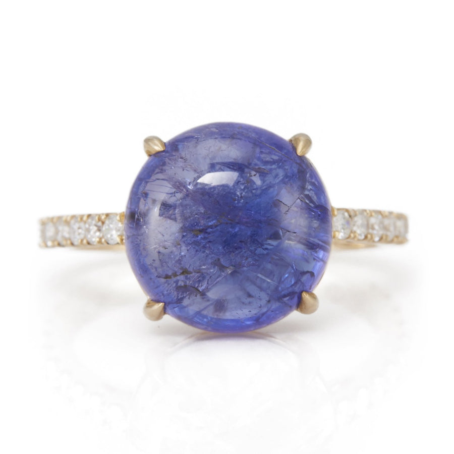 Tanzanite & Diamond globe Ring