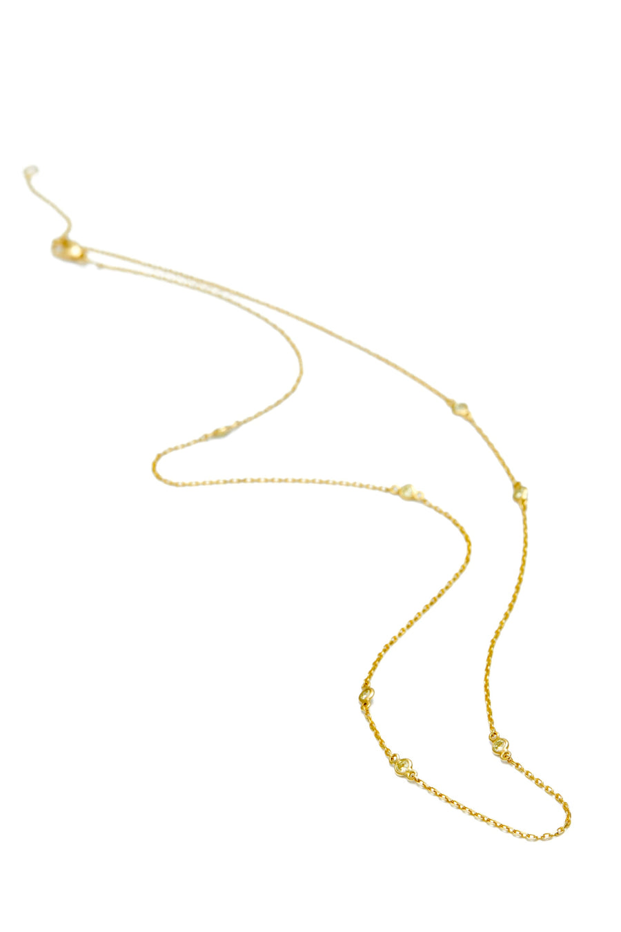 Yellow Diamond Dot Necklace