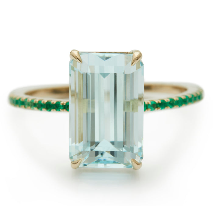 Aquamarine & Emerald Ring