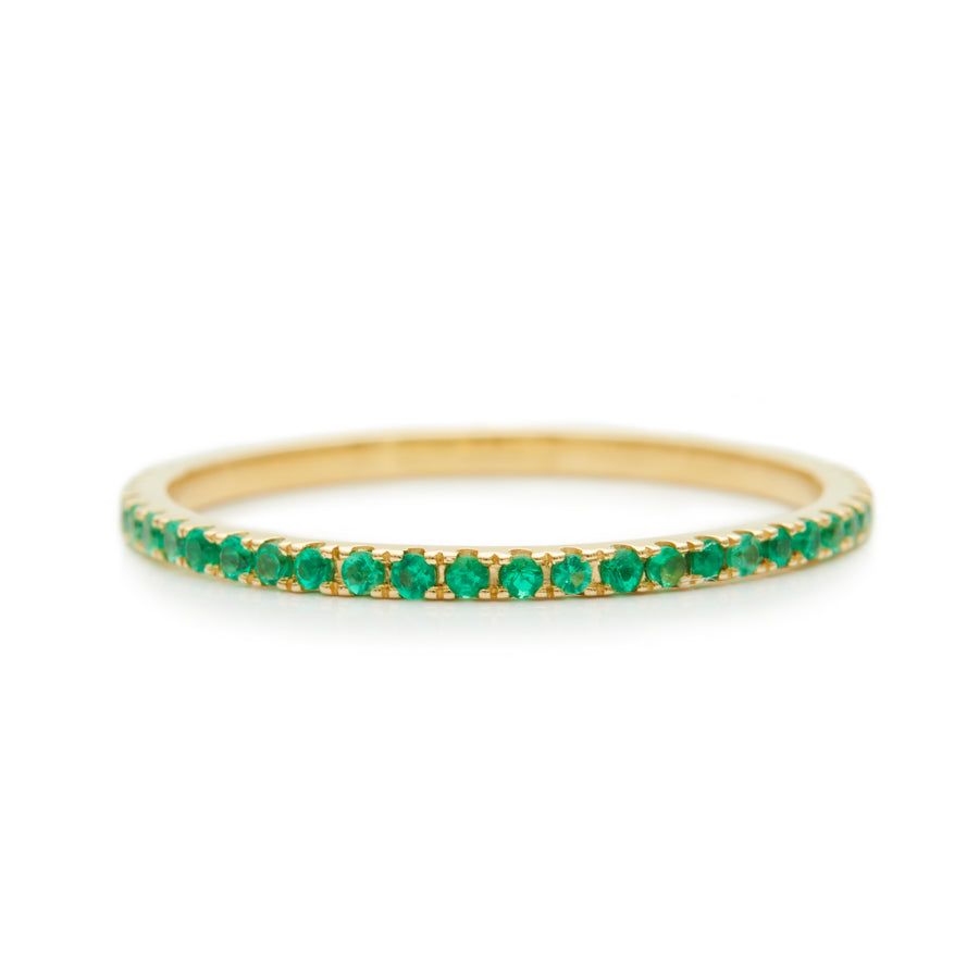 Emerald Infinity Ring