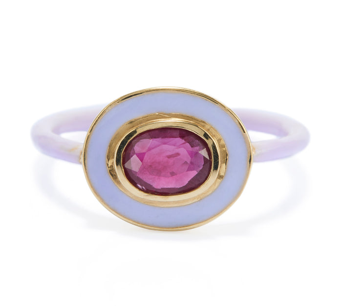 RUBY & LILAC LAQUER DREAMER'S RING