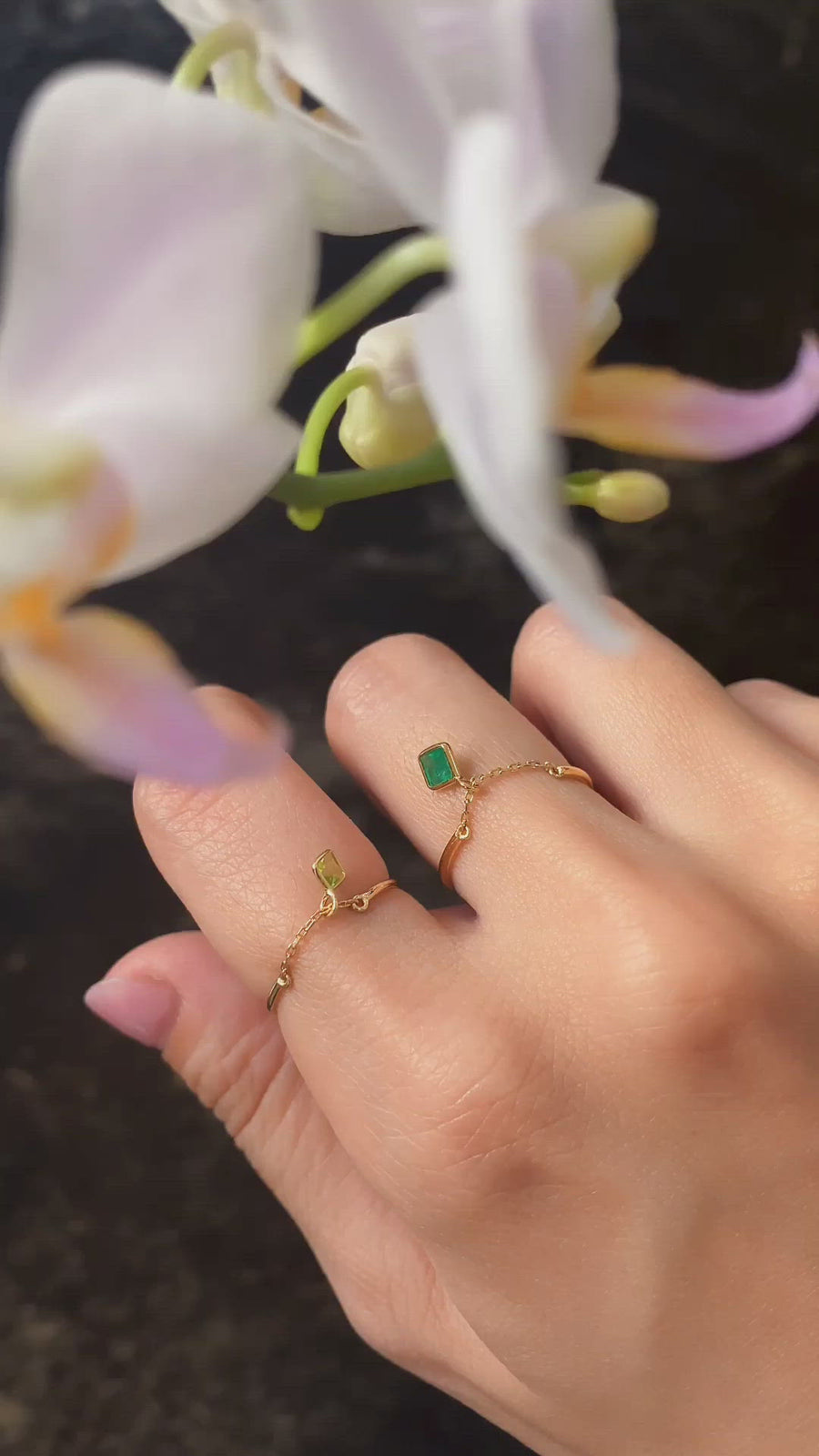 Yi Collection x Opening Ceremony Emerald Ring: Silver with 14k gold plating
