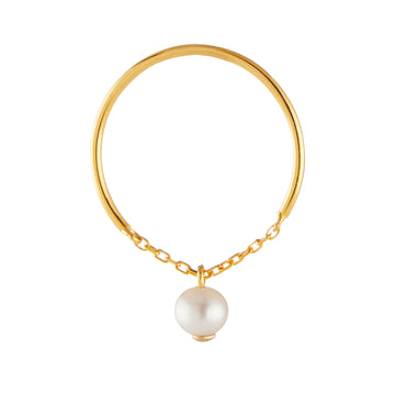 Pearl Half Chain Ring