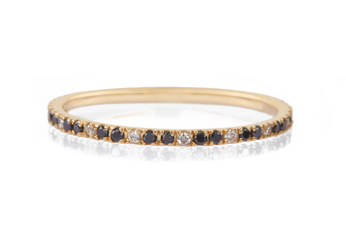 Black & White Diamond Infinite Ring