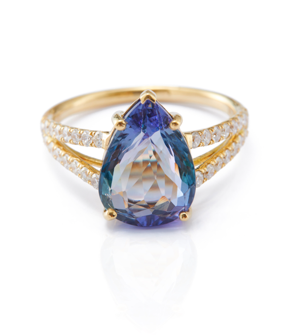 Peacock Tanzanite & Diamond Supreme Ring