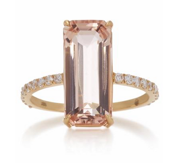 Morganite and diamond Supreme ring