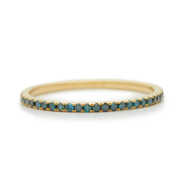 Blue Diamond Micro Pave Infinite Ring