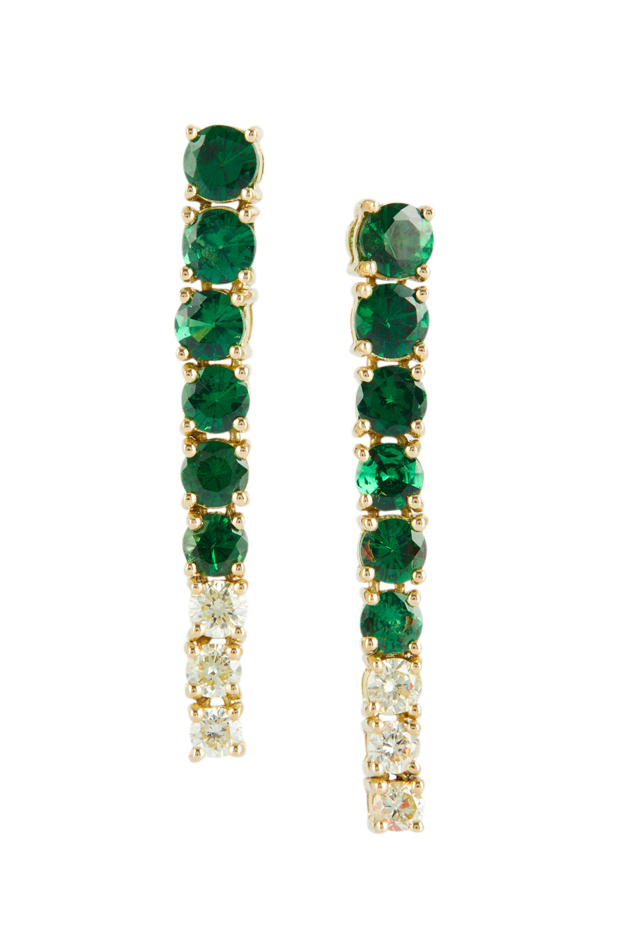 Tsavorite & Canary Diamond Dream Links Earrings