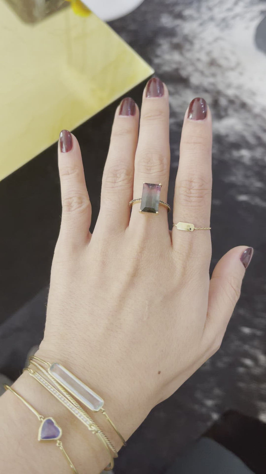 Watermelon Tourmaline Protection Ring