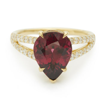 Rhodolite & diamond all my heart Ring