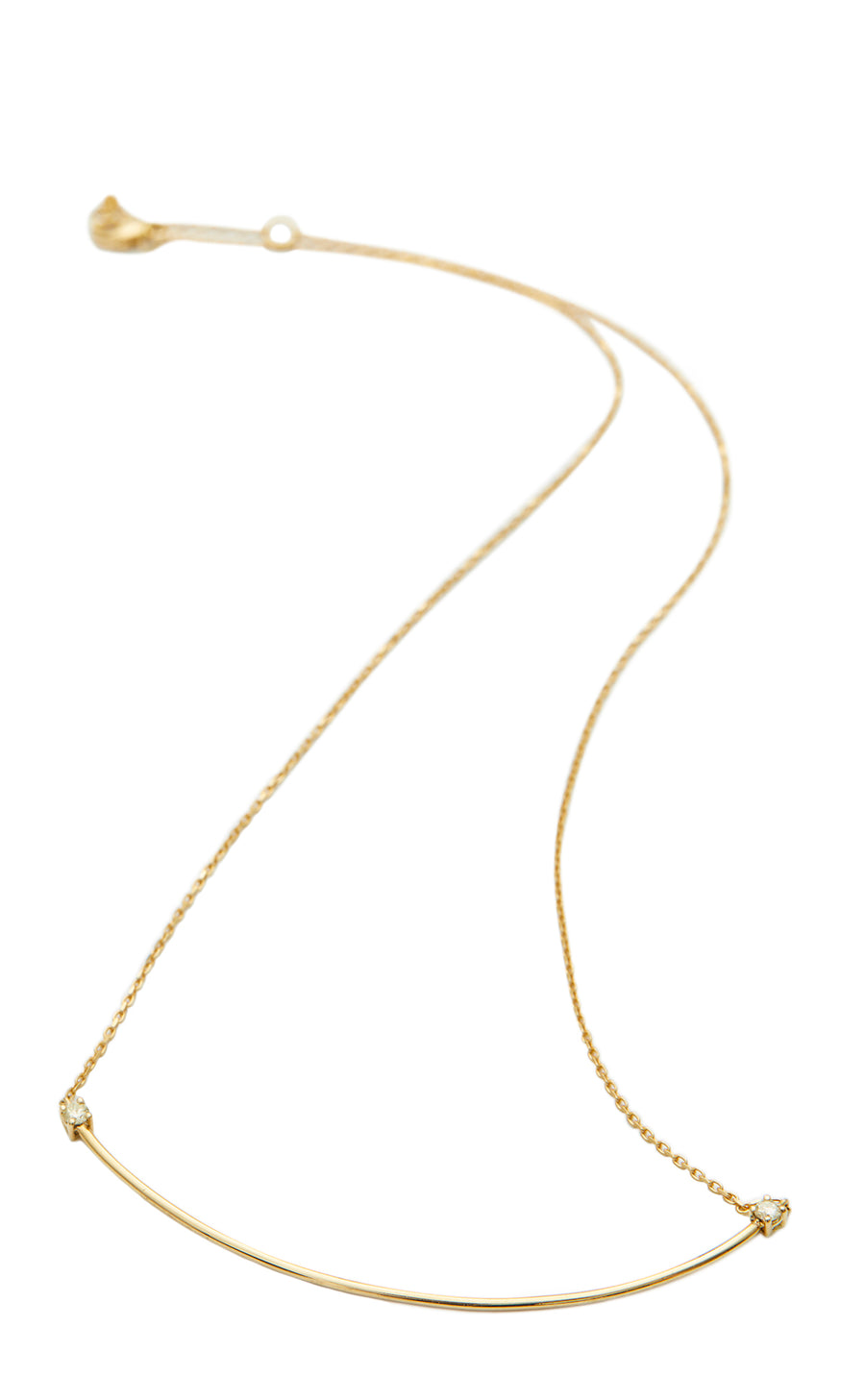 Canary Yellow Diamond Bar Necklace