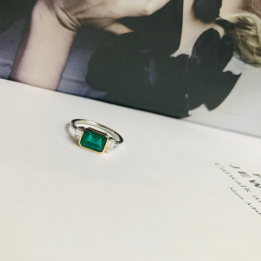 Emerald & Diamond Forever Ring
