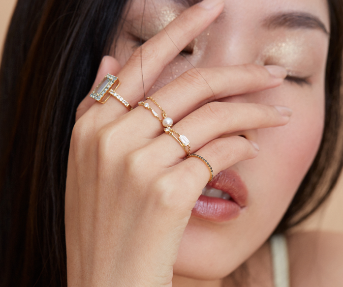 Yi Collection x Opening Ceremony Pearl Ring: Silver with 14k gold plating