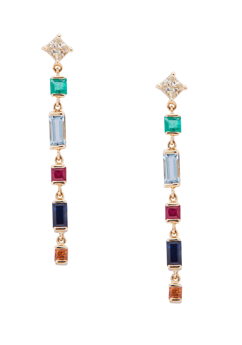 Diamond & Rainbow Earrings