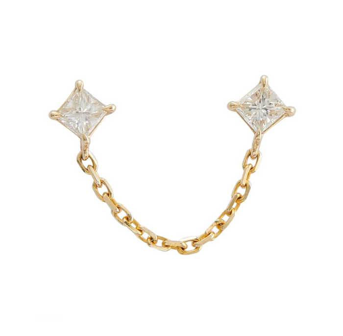 Diamond Linked Chain Earring