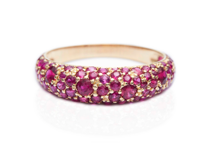 Ruby Pave Dome Ring