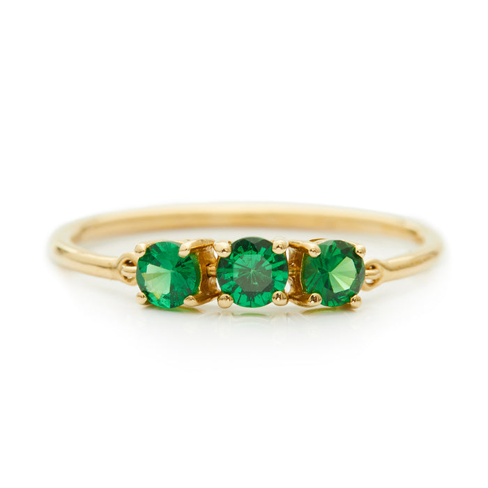 Tsavorite Flexi Ring