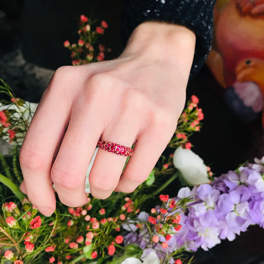 Ruby Pomegranate Ring