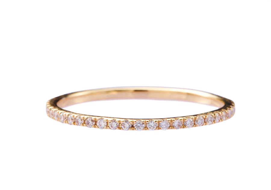 Diamond Micro Pave Infinite Ring