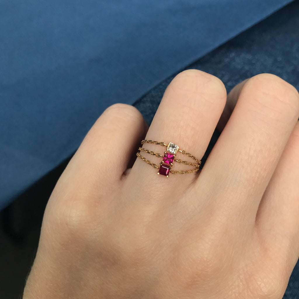 Ruby Chain Ring