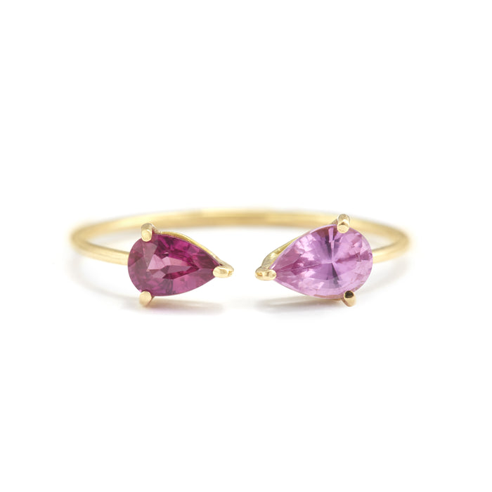 Ruby & Pink Sapphire Open Ring