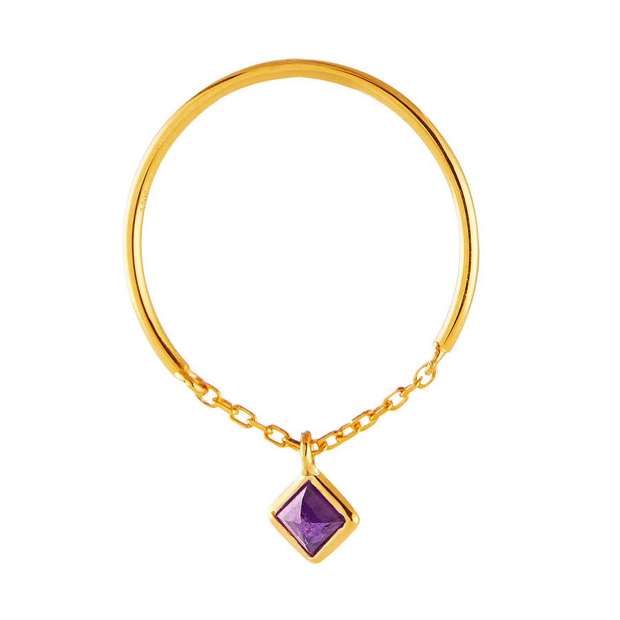 Yi Collection x Opening Ceremony February Amethyst half chain ring