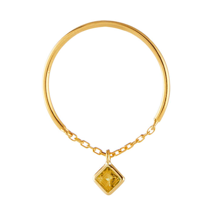 Yi Collection x Opening Ceremony Citrine half chain ring
