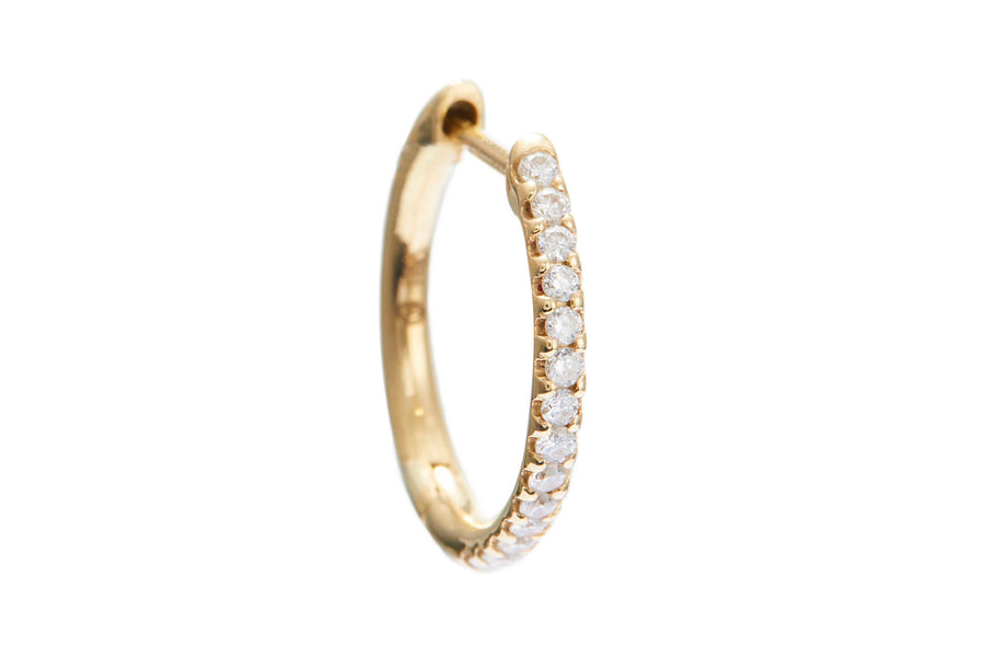 Diamond Hoop Earring