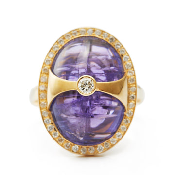 Tanzanite & Diamond Eos Ring