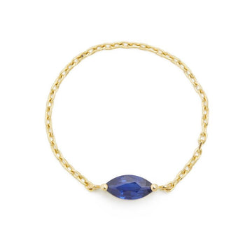 Sapphire Marquise Chain Ring