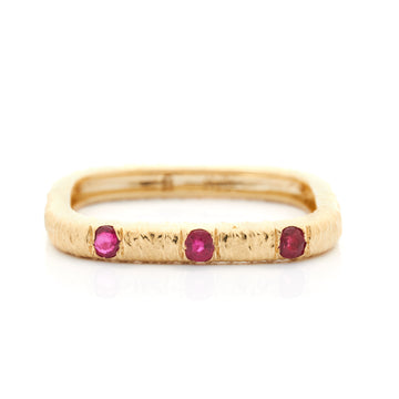 Gemstone linear rings