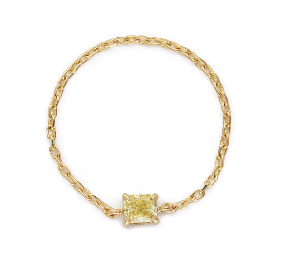 Canary Diamond Midi Chain Ring