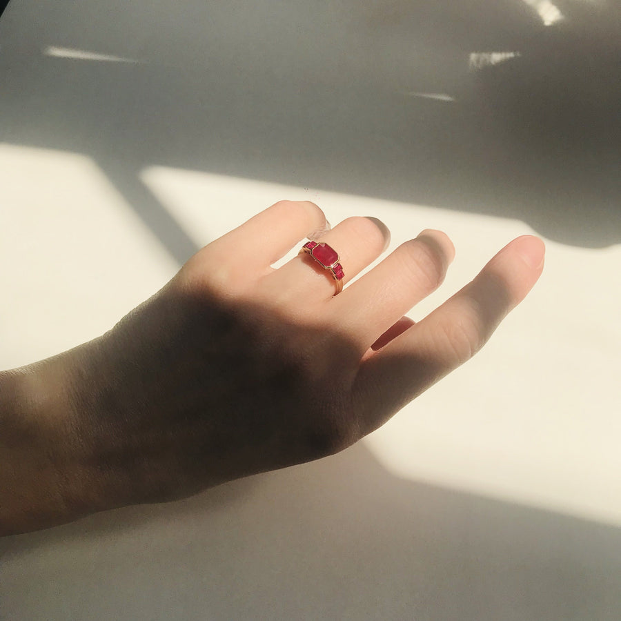 Five Rubies Ring