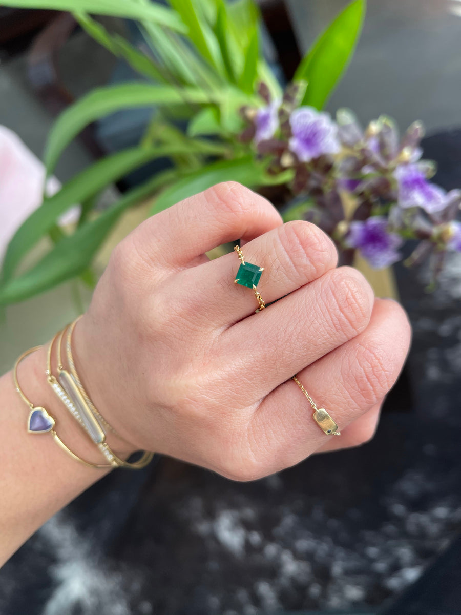 Emerald Supreme Diamond Chain Ring