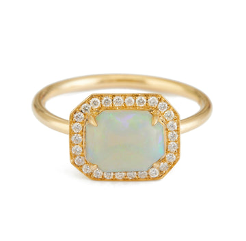 Opal & Diamond Mini Magic Ring