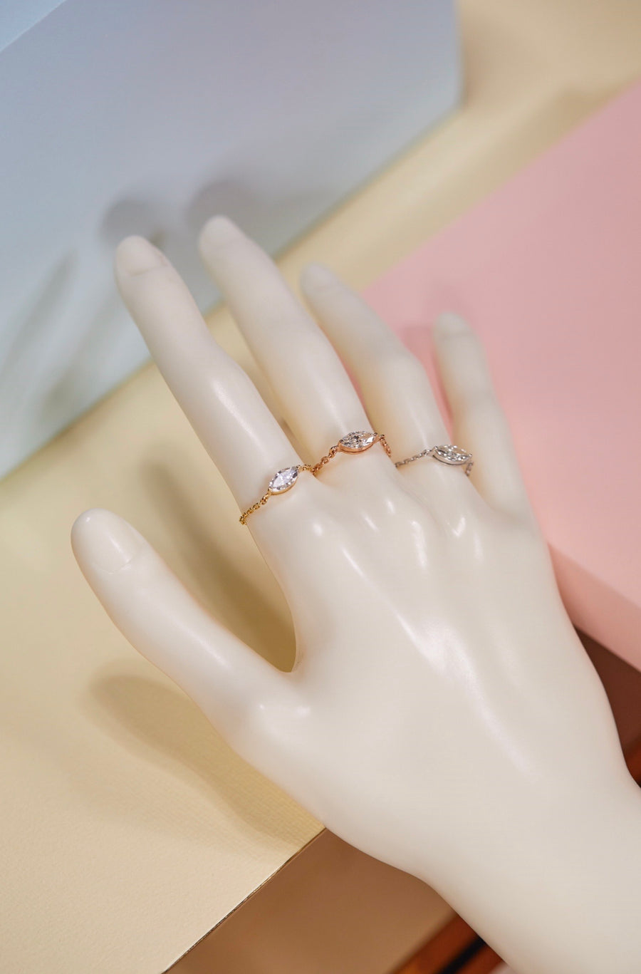 Diamond Supreme Marquise Chain Ring