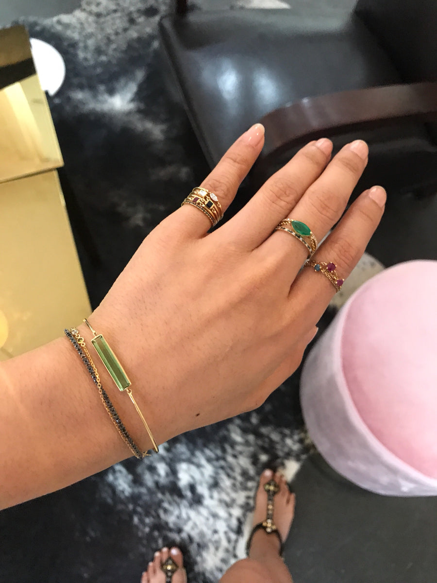 Green Tourmaline Bangle