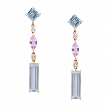 Topaz, Diamond & Sapphire Shanghai Nights Earrings