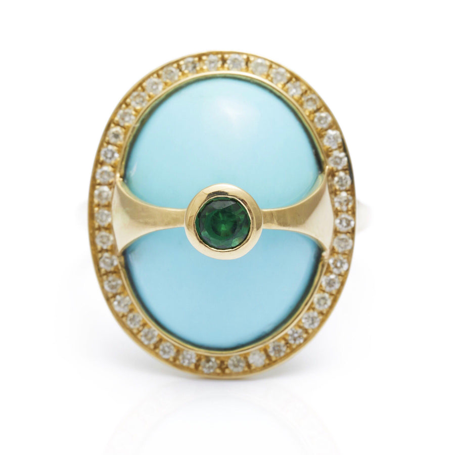Turquoise & Diamond Eos Ring