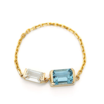 Double topaz Chain Ring