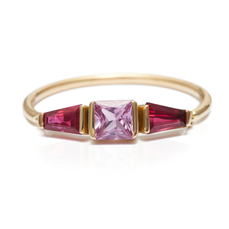 Pink Sapphire & Ruby Lacroix Ring