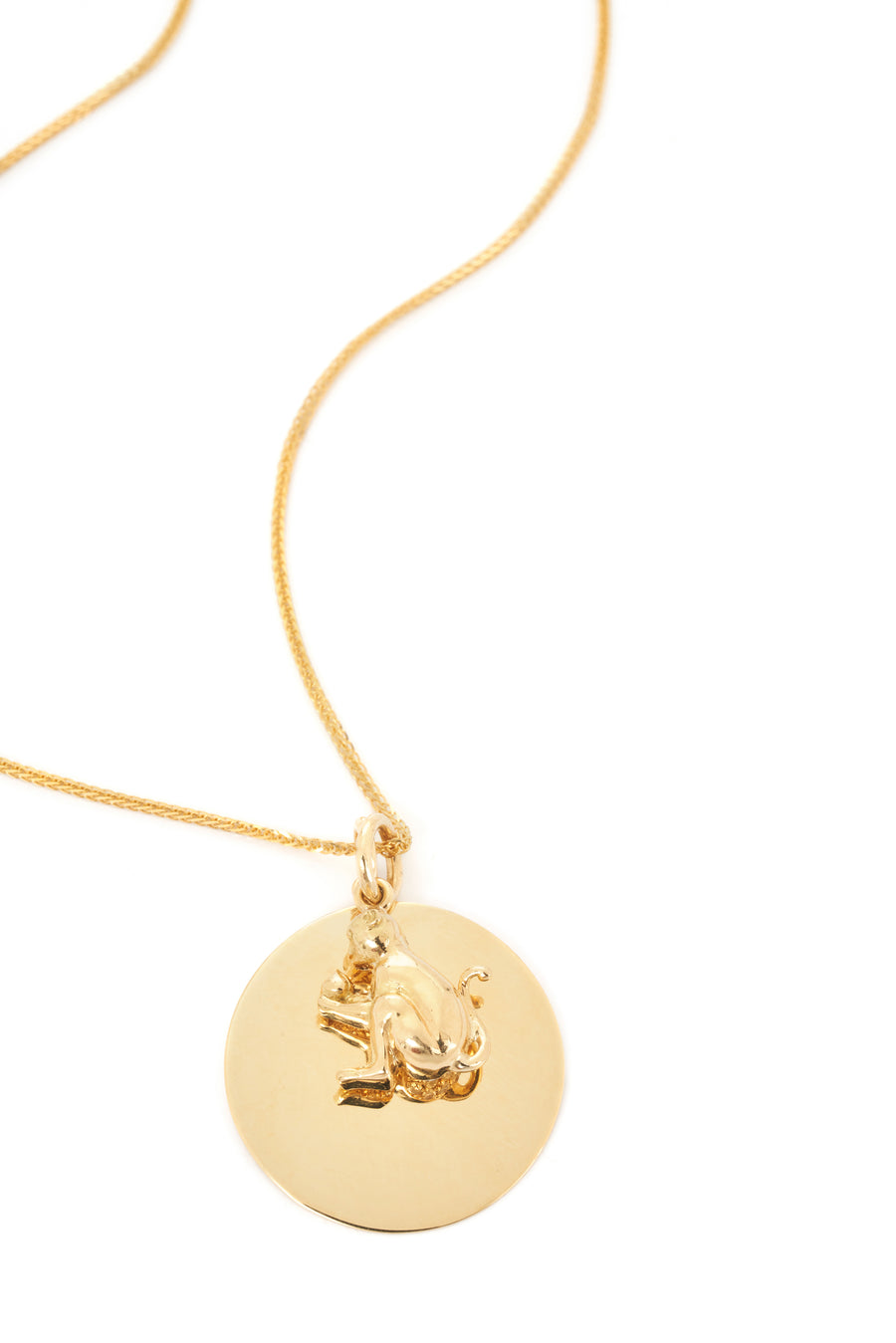Zodiac Monkey Pendant Necklace