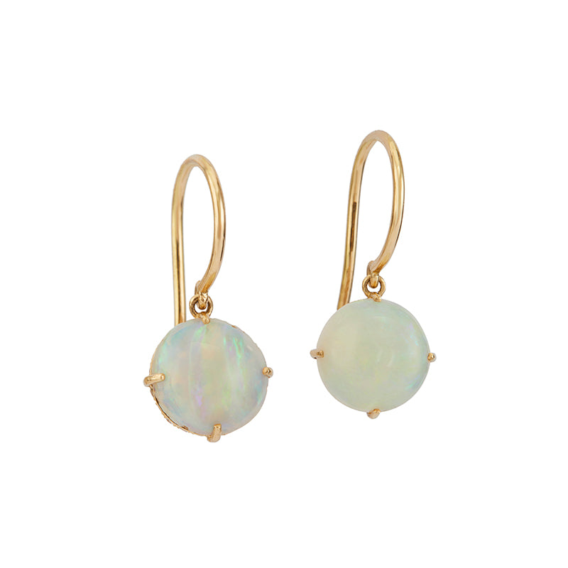 Opal & Diamond Reversible Earrings