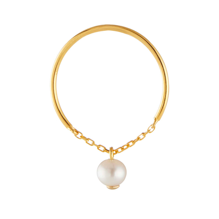 Yi Collection x Opening Ceremony June Pearl Ring: Silver with 14k gold plating