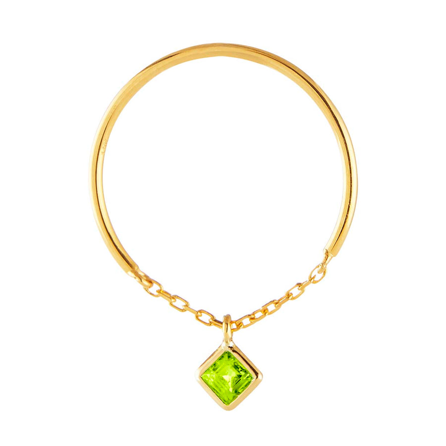Yi Collection x Opening Ceremony August Peridot Ring: Silver with 14k plating