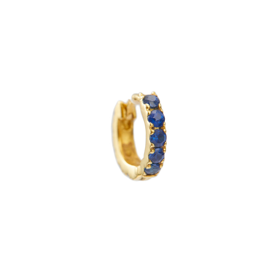 Ruby or Blue Sapphire or Emerald Huggie Earring