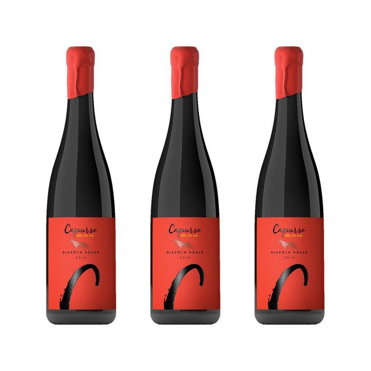 3 Bottles of Diavolo Rosso Igt - Capurso - PepeGusto