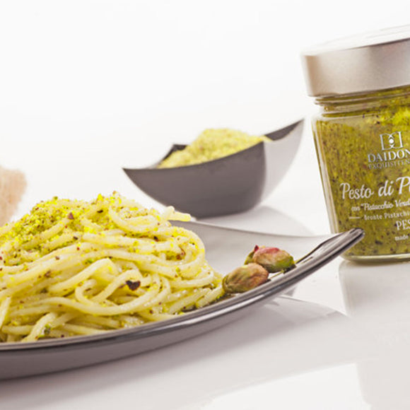Spaghetti with Pesto of Bronte (Sicily Recipe)