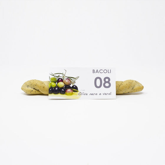 Artisan breadsticks with Black and Green Olives - Bacoli 08 - PepeGusto